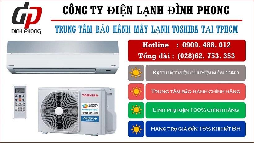 Trung tâm bảo hành máy lạnh Toshiba tại Tphcm