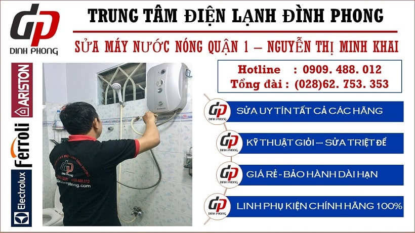 Sửa máy nước nóng quận 1