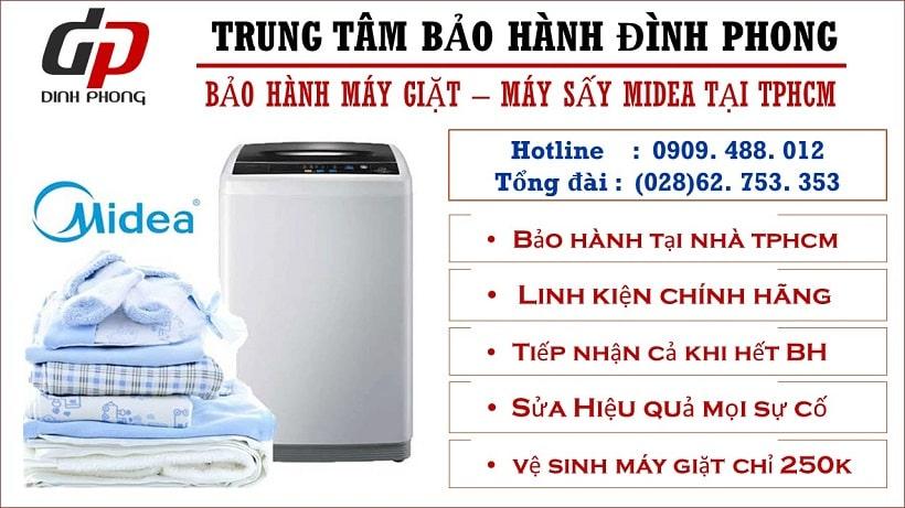 Trung tâm bảo hành máy giặt Midea tại Tphcm