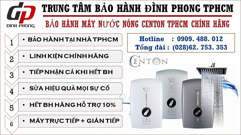 Trung tâm bảo hành máy nước nóng Centon tại Tphcm