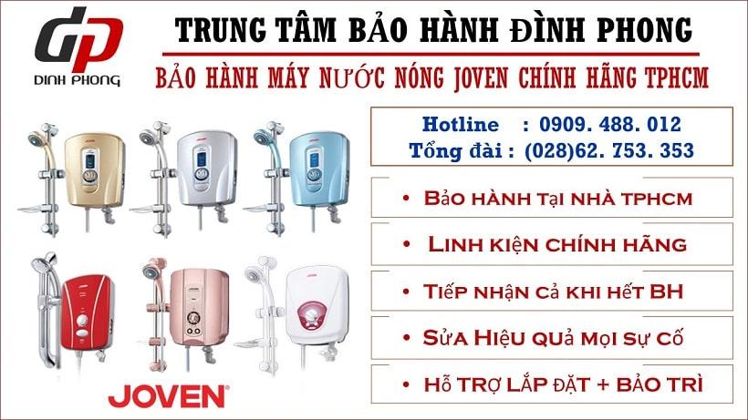 Trung tâm bảo hành máy nước nóng Joven tại Tphcm