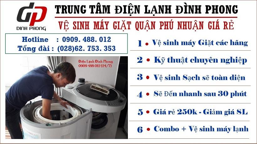 Vệ sinh máy giặt Phú Nhuận