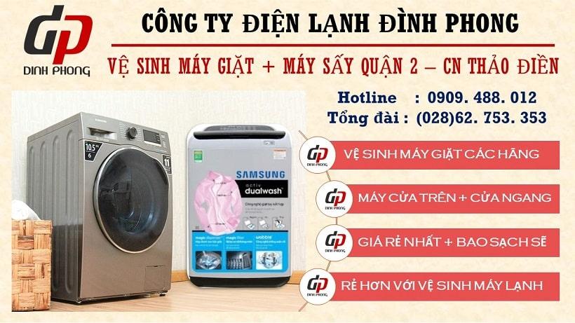 Vệ sinh máy giặt tại quận 2