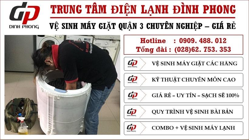 Vệ sinh máy giặt tại quận 3