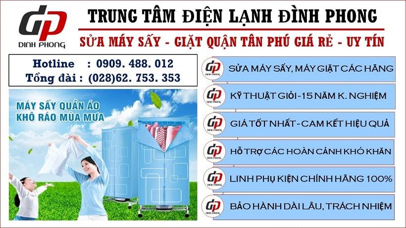 Sửa máy sấy quận Tân Phú